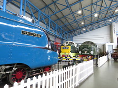 IMG_6417 (JI60009) Tags: national railway museum nrm york uk steam gresley a4 4468 mallard worlds fastest 126mph class 55 deltic 55002 d9002 kings own yorkshire light infantry 40 d200 40122 english electric type 4