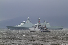 The Royal Danish Navy Absalon-class frigate HDMS Absalon, L16, IMO 9284441 and the Royal Norwegian mine hunter Otra, M351; Firth of Clyde, Scotland (Michael Leek Photography) Tags: warships navalvessel natowarships natoexercise firthofclyde clyde jointwarrior nato vessel ship minehunter minesweepers frigate danish norwegian denmark norway militaryexercise europe scotland scottishcoastline scottishlandscapes scotlandslandscapes scottishshipping argyllandbute argyll hmnbclyde hmnb faslane gareloch westcoastofscotland michaelleek michaelleekphotography
