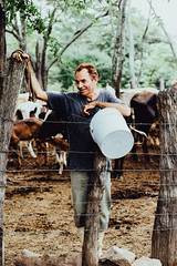 Visiting Cows & Farmers (SerCorzo) Tags: farmer farmers happy portrait cows vacas morning happiness man elder portraiture