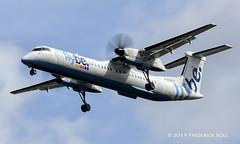 Flybe DHC8 ~ G-ECOG (© Freddie) Tags: heathrow londonheathrow cranford hounslow flybe dehavilland dehavillandcanada dhc8 dash8 gecog lhr egll arrival27r 27r fjroll ©freddie