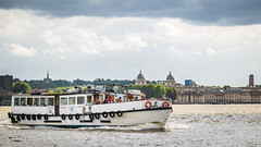 Cruising on the River Thames (godrick) Tags: europe unitedkingdom greenwich england london gb riverthames olympianway cruising touring pleasureboat thamesriverservices