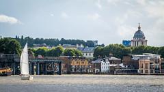 Sailing by Greenwich (godrick) Tags: england london europe unitedkingdom greenwich gb riverthames olympianway sailing yacht