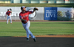 shortstop on the move (scott1346) Tags: baseball range quickness sport game localteam southernmaryland bluecrabs 1001nightsthenew canont3i autofocus colors red white contactgroups thegalaxy tamronaf18270mmf3563diiivcldasphericalif thebestofmimamorsgroups
