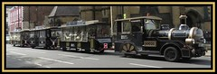 York. Road Train (M E For Bees (Was Margaret Edge The Bee Girl)) Tags: york yorkshire northyorkshire city train road outdoors summer vehicle wheels gold nationalrailwaymuseum canon black