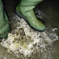 Deltas Delight (essex_mud_explorer) Tags: lechameau delta waders thigh hip rubber boots waterproof wading wadingthroughwater splashing splash water pond lake fun