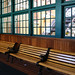 Wood benches at the Monongahela Incline station