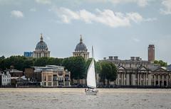 Yacht sailing by Greenwich (godrick) Tags: europe unitedkingdom greenwich england london gb riverthames olympianway sailing yacht