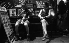Noah and Hannah (neilsonabeel) Tags: nikonn90s nikon film nikkor analogue blackandwhite night pushed