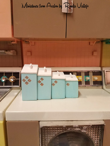 1:6th Scale Mid-Century Modern Kitchen Canisters - a photo ...