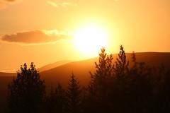 IMG_20190817_213741_590 (KarítasE) Tags: sunset orange orangesky sólsetur ísland sumar summernights naturephotography nature naturephotos mountains sun iceland
