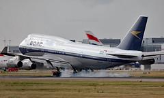 G-BYGC - Boeing 747-436 - LHR (Seán Noel O'Connell) Tags: britishairways ba ba100 speedbird boac gbygc boeing 747436 b747 b744 747 heathrowairport heathrow lhr egll lax klax ba268 baw268 aviation avgeek aviationphotography planespotting retro