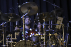 At Night I Fly - LP recording 04 (gergely.t.springer) Tags: budapest hungary magyarország lprecording band anif atnightifly studio drums tama shure microphone bokeh