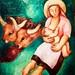 Peasant girl breast-feeding her child (1933) - Sarah Affonso (1899-1982)