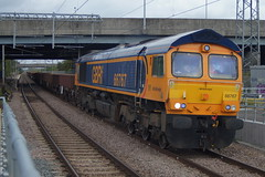 All Change: 66767 6T60 Meridian Water 17/08/19 (TheStanstedTrainspotter) Tags: train trains rail railway transport transportation freight publictransport gbrf gbrailfreight 66 class66 66767 meridianwater angelroad 6t60 whitemoor whitemooryardldcgbrf westanglia westangliamainline nr networkrail engineeringtrain nll northlondonline camden camdenroad camdenroadjn