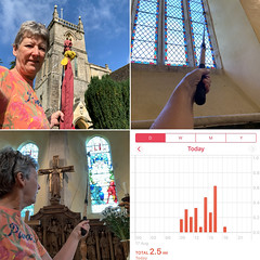 229 2019 church cleaning at Coln St Aldwyns (Margaret Stranks) Tags: 229365 365days 2019 colnstaldwyns gloucestershire uk cleaning cobwebs fishingrod graph church