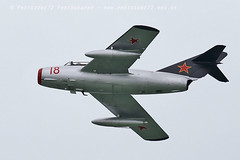 0847 MiG 15 (photozone72) Tags: eastbourne aircraft airshows airshow aviation canon canon7dmk2 canon100400f4556lii 7dmk2 t33 t33shootingstar mig mig15