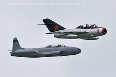 0802 Mig 15 & T33 Shooting Star (photozone72) Tags: eastbourne aircraft airshows airshow aviation canon canon7dmk2 canon100400f4556lii 7dmk2 t33 t33shootingstar mig mig15