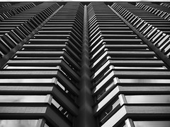 Silver (Nick Condon) Tags: abstract architecture blackandwhite building chicago downtown olympus45mm olympusem10 reflection wall window