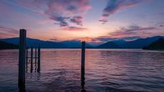 Sunset at Laveno Mombello, Italia, Italy  #sunset #lake #nature #mountains #landscape #photography (Thomascipo) Tags: landscape photography nature mountains sunset lake