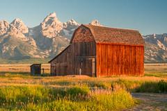 Mormon barn Teton NP (alanrharris53) Tags: usa teton national park barn building architecture mormon wood logs