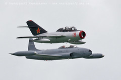0799 Mig 15 & T33 Shooting Star (photozone72) Tags: eastbourne aircraft airshows airshow aviation canon canon7dmk2 canon100400f4556lii 7dmk2 t33 t33shootingstar mig mig15