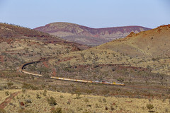 The Hammersley Range! (zwsplac) Tags: australia pilbara riotinto iron ore train railroad hammersley mountain range