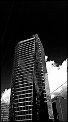 Spike! (Marcia Portess-Thanks for a million+ views.) Tags: height b5 calle street ciudad city businessdistrict glasssteel tower highrise building edificio blancoynegro byn bw blackwhite elcentro downtown vancouvercanada bentallfive marciaaportess marciaportess map spike