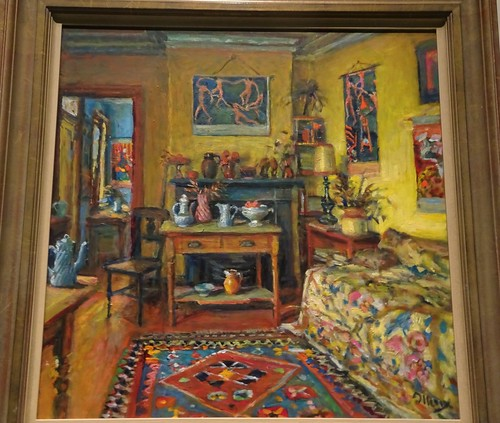 Brisbane. One of Margaraet Olley's interiors of her Sydney home. Part of the Margaret Olley a Generous Life exhibition at the Brisbane Gallery of Modern Art.
