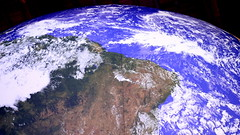 Luke Jerram's Gaia (Benn Gunn Baker) Tags: luke jerram's gaia wills memorial library bristol university nasa imagery earth artwork benn gunn baker canon 550d t2i south america