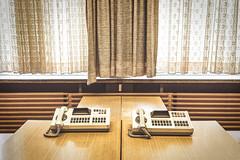 Wiretaps (Edward Hoover) Tags: berlin germany telephone stasi stasimuseum eastberlin spy spying retro office vintage curtains