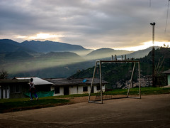 Cauca (bryamreyes) Tags: sky landscape mountain road nature sunset clouds field blue green grass cloud view travel farm water mountains outdoors summer rural countryside bridge