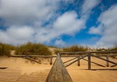 Holiday... (hobbit68) Tags: fujifilm xt2 sand wolken clouds sky holiday urlaub himmel geländer espagne espanol espana espania andalucia andalusien sonne sommer strand sun sunshine spanien sunset sonnenschein summer spain steg natürlich natur dünen
