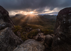 Path of the dead (ryanthill_) Tags: hiking adventure trekking mountains mountainrange sunset light lightrays lordoftherings rocks moody landscape goldenhour