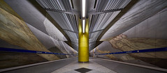 Razor (Arx Zyanos) Tags: münchen munich ubahn metro subway station bahnhof architecture architektur sony a7riii ilce7rm3 a7rmk3 voigtländer voigtlaender voigtlander hyper wide heliar 10mm wideangle lines colors yellow colorful structures
