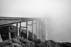 Fog-Covered Bixby Bridge Two (Steve Holsonback) Tags: bixby bridge sony alpha a350 black white fog monterey peninsula big sur county