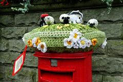 Over the Top (alison's daily photo) Tags: postbox yarnbombing crochet hawes yorkshire 119picturesin2019 42119extravagant
