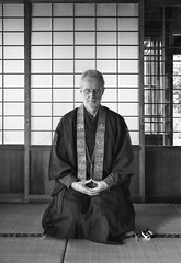 In a meditative state (PeterThoeny) Tags: saratoga california silicon valley usa sanfranciscobay sanfranciscobayarea southbay hakonegardens japanesegarden garden person portrait selfportrait buddhism religion class lesson learn zen mikkyozen mikkyobuddhism indoor room window japanesearchitecture japaneseroom japan sony a7r a7rii a7rmii alpha7rmii ilce7rm2 fullframe fe2870mmf3556oss 1xp raw photomatix hdr qualityhdr qualityhdrphotography