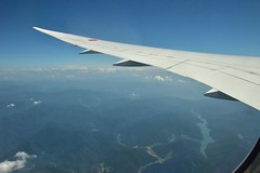 九頭竜湖 (yuki_alm_misa) Tags: plane airplane aircraft aeroplane boeing 飛行機 b7878 bridge 航空機 b787 b7878dreamliner 九頭竜湖
