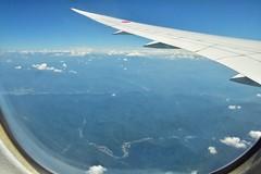 52号線 板取川 岐阜県関市中切 (yuki_alm_misa) Tags: plane aeroplane airplane boeing b7878 飛行機 aircraft bridge 航空機 b7878dreamliner