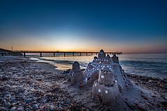 Sandcastle on the beach of Heiligendamm (Peter Goll thx for +12.000.000 views) Tags: heiligendamm ostsee sonnenuntergang sunset mecklenburgvorpommern deutschland sandburg sandcaslte beach strand steg balticsea germany nikon nikkor nikonz6 z6 nikkor1424 meer sea ocean