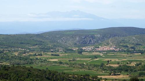 Paziols & Pic du Canigou from Chateau d'Aguilar
