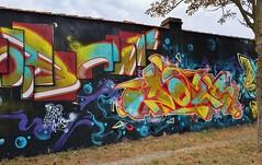 Graffiti La Rochelle, La Pallice (thierry llansades) Tags: graf graffiti graff graffitis graffs grafs graphisme spray aerosol painting bombing larochelle lapallice mur charentemaritime charente charentes char charentesmaritime poitou poitoucharentes aquitaine art artmoderne urbanart steetart