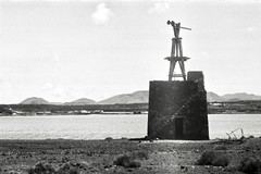 Old Windmill (•Nicolas•) Tags: camera leica bw film holidays lanzarote nb collection canaryislands ilford fp4 125iso ilfosol iiif nicolasthomas vintage vacances spain