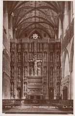 St Albans Abbey High Altar Screen St Albans Abbey (Liz Pidgeon) Tags: valentines postcard abbey altar hertfordhsire