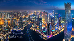 Dubai Marina (DanielKHC) Tags: dubai uae united arab emirates marina architecture cityscape buildings nikon d850 nikkor 19mm tilt shift panorama digital blending blue hour