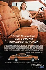 1975 Ford Thunderbird With Copper Luxury Group & Convenience Group USA Original Magazine Advertisement (Darren Marlow) Tags: 1 5 7 9 19 75 1975 f ford thunderbird tbird copper g group c convenience car cool collectible collectors classic a automobile v vehicle u s us usa united states american america 70s