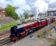 Duchess of Sutherland leaves Newbury