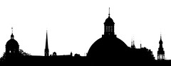 Steeples and Domes (Hans Veuger) Tags: nederland thenetherlands amsterdam amsterdamcentrum skyline urbanskyline sliderssunday hss bw zwwt domes koepels torens steeples spires nikon b700 coolpix nederlandvandaag unlimitedphotos twop silhouetten binair explored