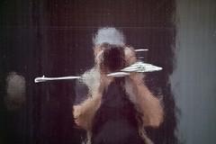 Selfie lent (Gerard Hermand) Tags: 1908140090 gerardhermand france paris canon eos5dmarkii abstract abstraction abstrait reflexion reflection autoportrait selfportrait moi me