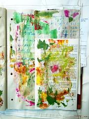 Formeln, die die Welt verändern (MizzieMorawez) Tags: artjournal mixedmedia acryl gouache pastel mischtechnik multitechnique collage stitchedpasted separatepaintedcover stitchededges intuitive speedpainting longtermproject colorful discarded recycling artbrut genuine unique